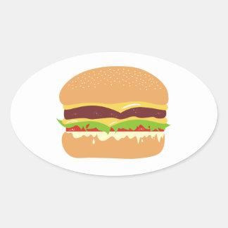 burger oval sticker