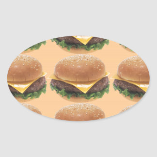 Burger Oval Sticker