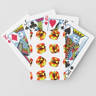 Burger Pattern Bicycle Playing Cards