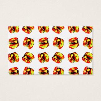 Burger Pattern Business Card