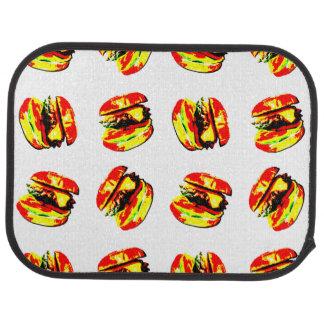 Burger Pattern Car Mat
