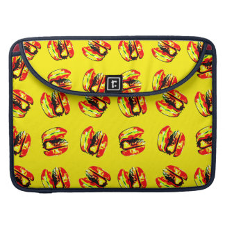 Burger Pattern MacBook Pro Sleeve