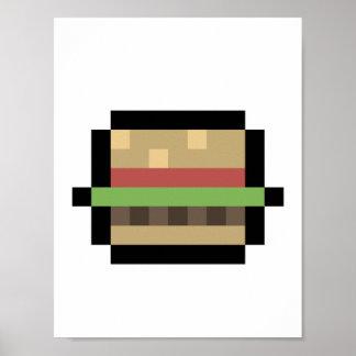 Burger Pixel Art Poster