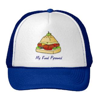 Burger pyramid hats