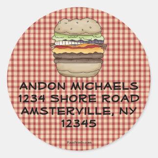 Burger Return Address Label