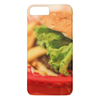 Burger served with fries iPhone 7 plus case