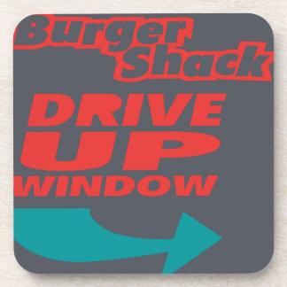 Burger Shack Drive Up Window Beverage Coaster