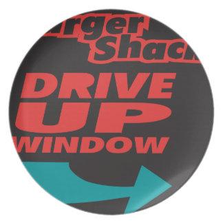Burger Shack Drive Up Window Plates