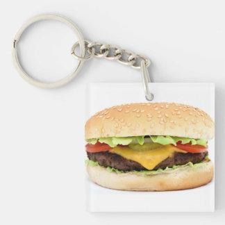 burger Single-Sided square acrylic keychain