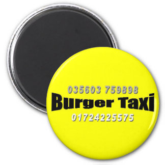 Burger taxi magnets