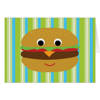 Burger Thank You Cards Note Card