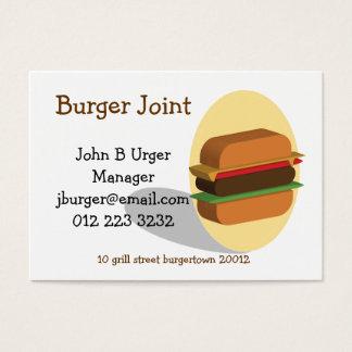 Burger themed business card