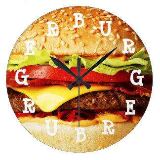 Burger Time Large Clock