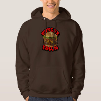 Burger Town - Men's Hooded Pullover