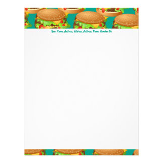 Burger Wallpaper, Burger Wallpaper, Your Name, ... Letterhead