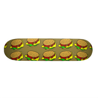 Burger Wallpaper Skateboard Deck