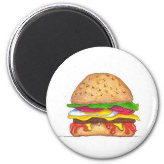 BurgerHotness 2 Inch Round Magnet
