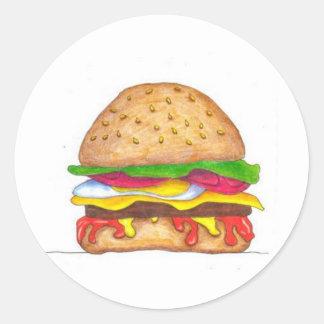BurgerHotness Pegatina Redonda