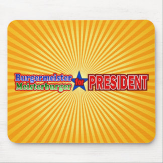 Burgermeister for President Christmas Design Mouse Pad
