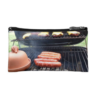 Burgers and hotdogs cosmetics bags