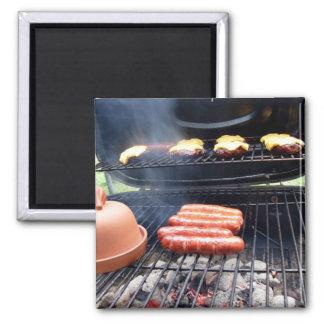 Burgers and hotdogs fridge magnet