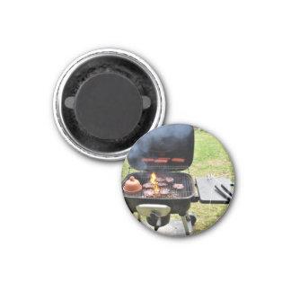 Burgers and hotdogs refrigerator magnet
