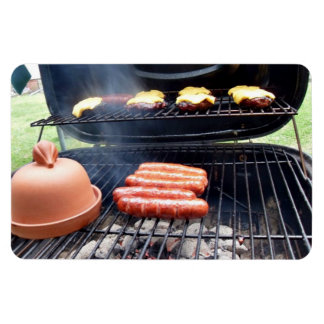 Burgers and hotdogs rectangle magnet