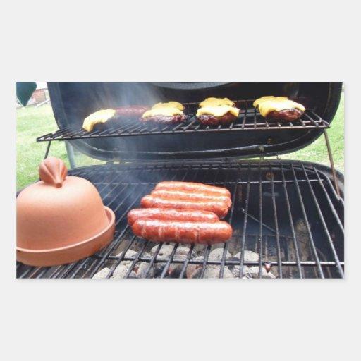 Burgers and hotdogs rectangular sticker
