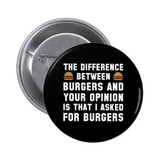 Burgers And Your Opinion Button