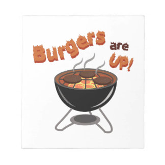 Burgers Are Up Notepad