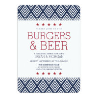 Burgers & Beer Rehearsal Dinner Card