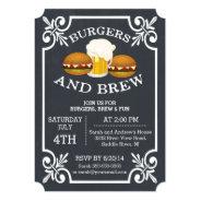 Burgers & Brew Barbecue Party Invitation at Zazzle