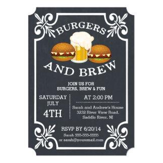 Burgers & Brew Barbecue Party Invitation