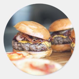 Burgers Classic Round Sticker