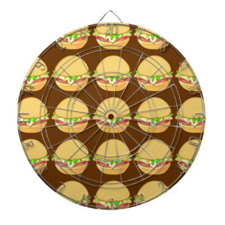 Burgers Dartboard With Darts