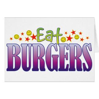 Burgers Eat Greeting Card