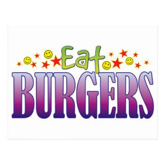 Burgers Eat Postcard