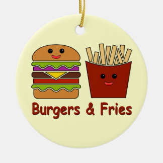Burgers & Fries Ceramic Ornament