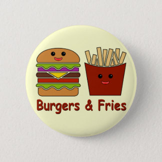 Burgers & Fries Pinback Button