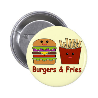 Burgers & Fries Pinback Button