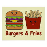 Burgers & Fries Poster