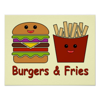 Burgers & Fries Posters