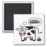 Burgers?! Funny Cow Magnet