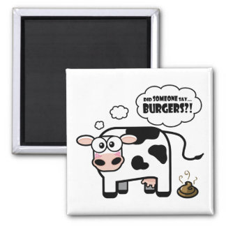 Burgers Funny Cow Magnet