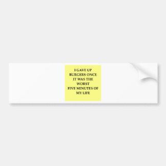 BURGERS.jpg Bumper Sticker
