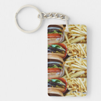 Burgers n Fries Keychain