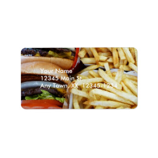 Burgers n Fries Label