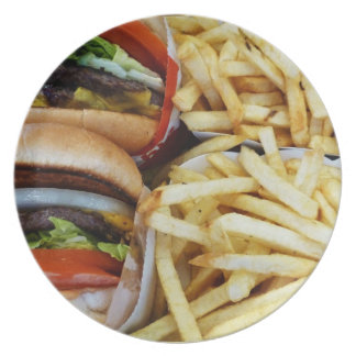 Burgers n Fries Party Plate