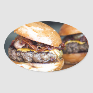 Burgers Oval Sticker