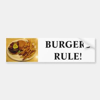 Burgers Rule! Car Bumper Sticker